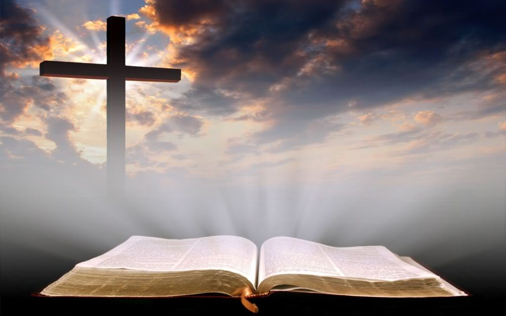 Background - Bible and Cross