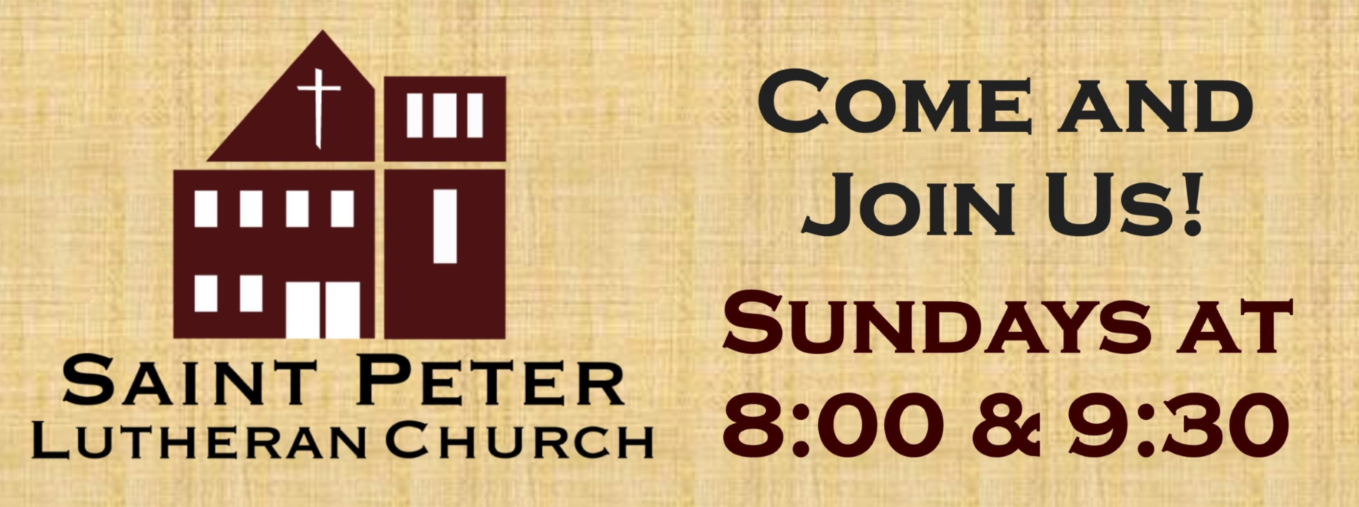 Join us for Worship!