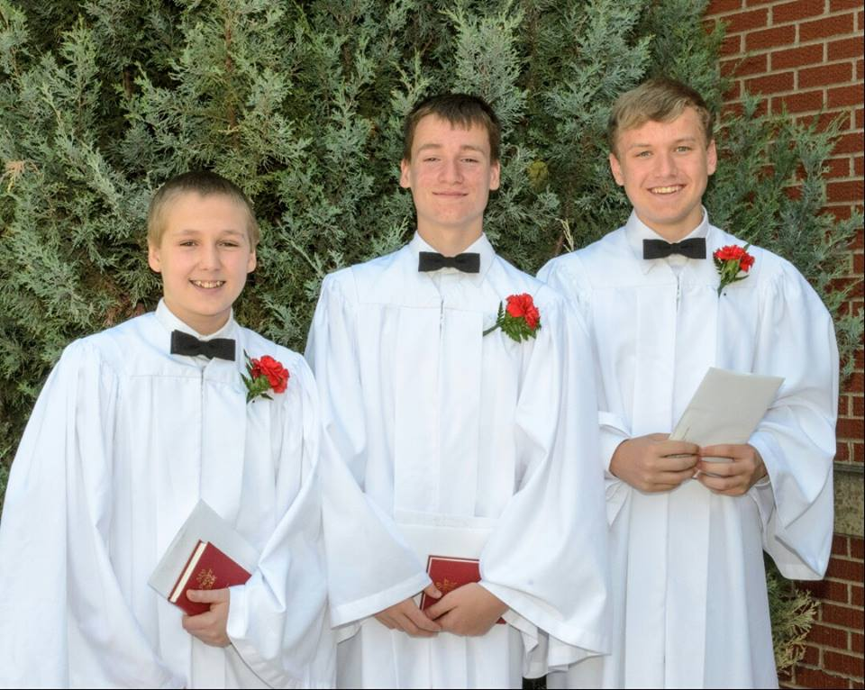 Three Confirmands