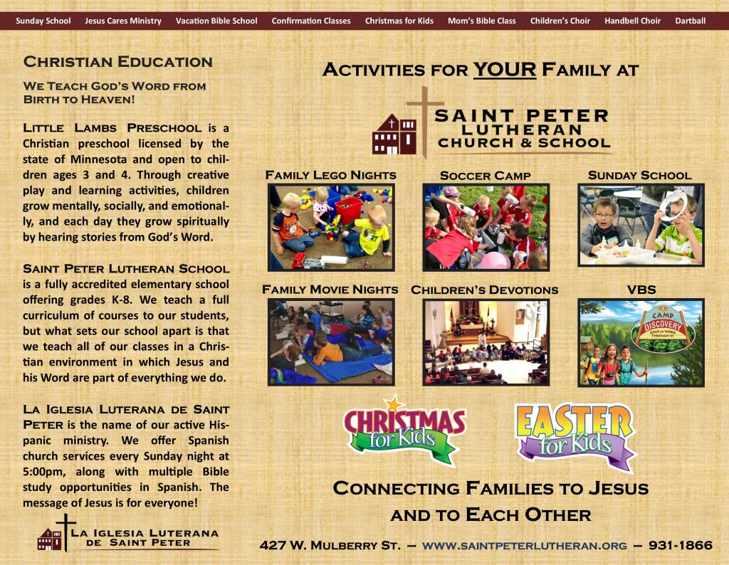 Church Flyer - 2015 - Inside
