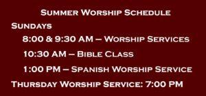 Weekly Worship Schedule